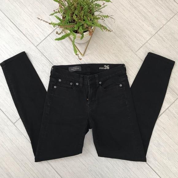 J. Crew Black Toothpick Jeans